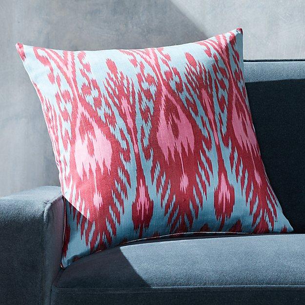 "Silk Ikat Pillow Pink Multi 20"" - Image 1 of 3"