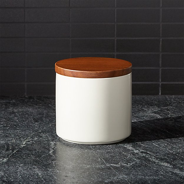 Wood Lid Canister Reviews Crate And Barrel