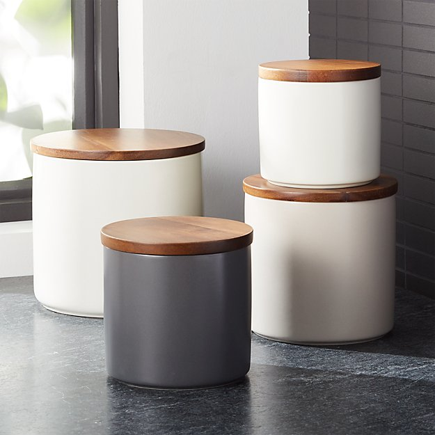 Canisters With Wooden Lids Tyres2c