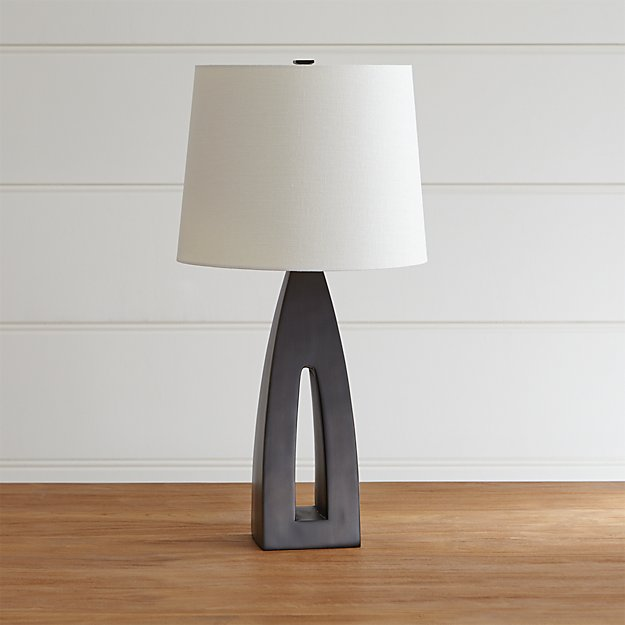 Geometric Wooden Table Lamp Reviews Crate And Barrel