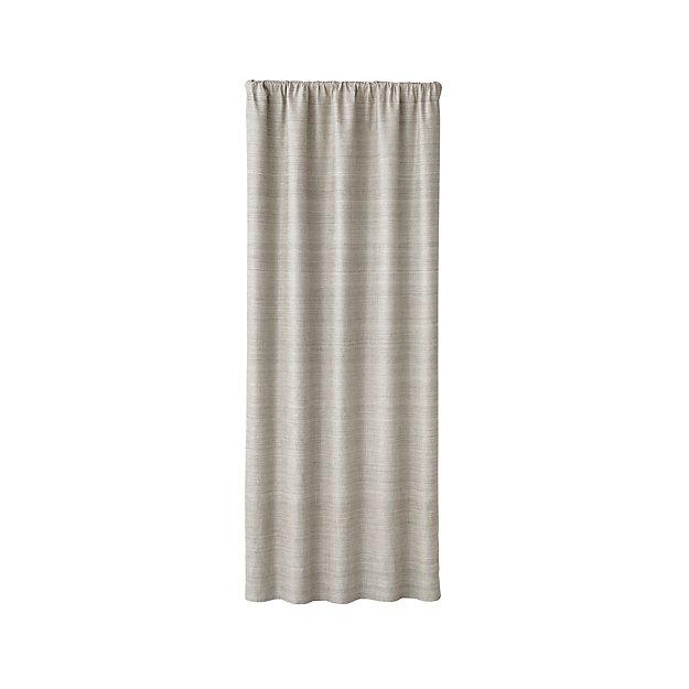 Silvana Grey Silk Blackout Curtain Panel 48 X108 Reviews Crate And Barrel