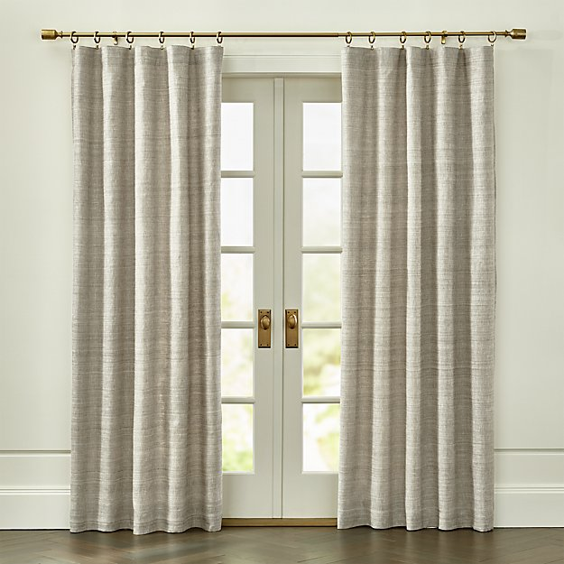Silvana Grey Silk Curtain Panel - Image 1 of 6