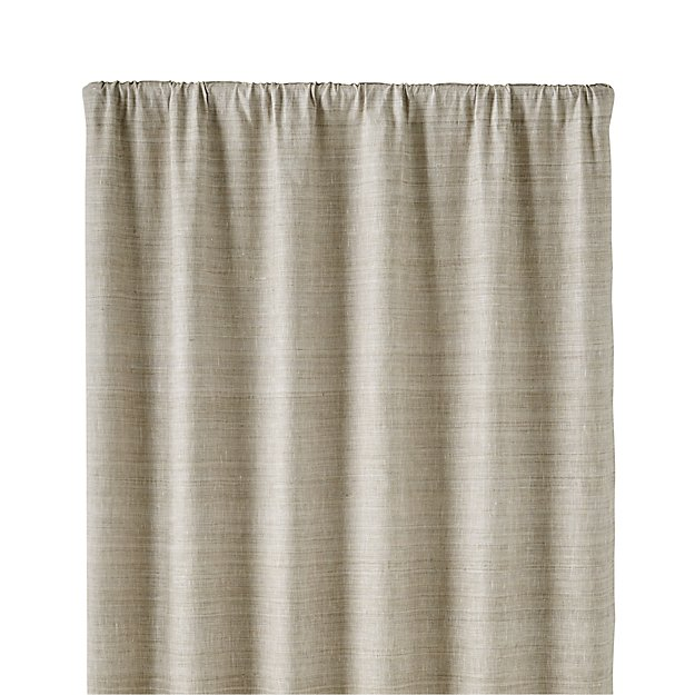 "Silvana Grey Silk 48""x108"" Curtain Panel"