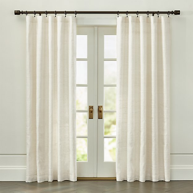 Silvana Ivory Silk Curtain Panel Crate And Barrel