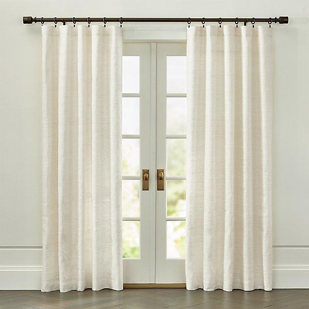 Silvana Ivory Silk Curtain Panel - Image 1 of 4