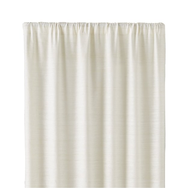 "Silvana Ivory Silk 48""x84"" Curtain Panel"