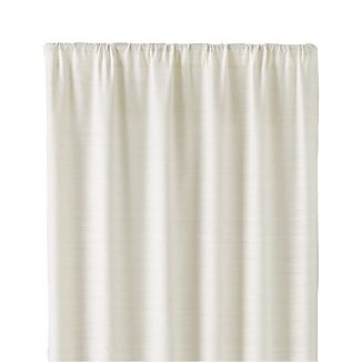 "Silvana Ivory Silk 48""x108"" Curtain Panel"