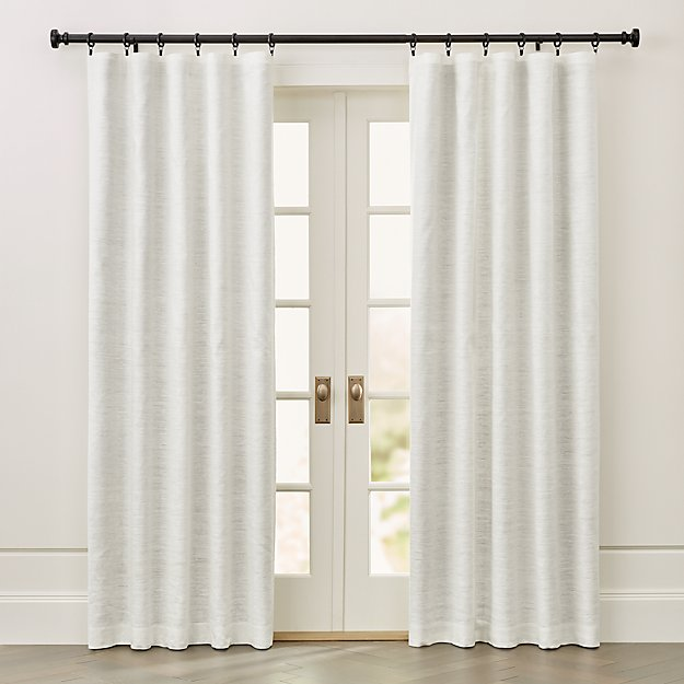 Silvana Ivory Silk Blackout Curtain Panel - Image 1 of 7