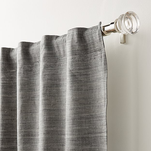 Silvana Silk Dark Grey Curtain Panel - Image 1 of 7