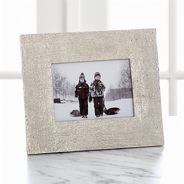 """Silver Bark 5""""x7"""" Picture Frame"""