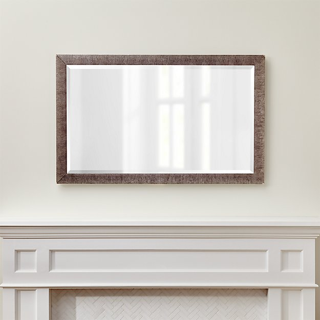 Silver birch rectangular wall mirror reviews crate and barrel