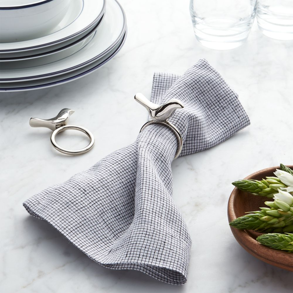 Silver Bird Napkin Ring - Crate and Barrel