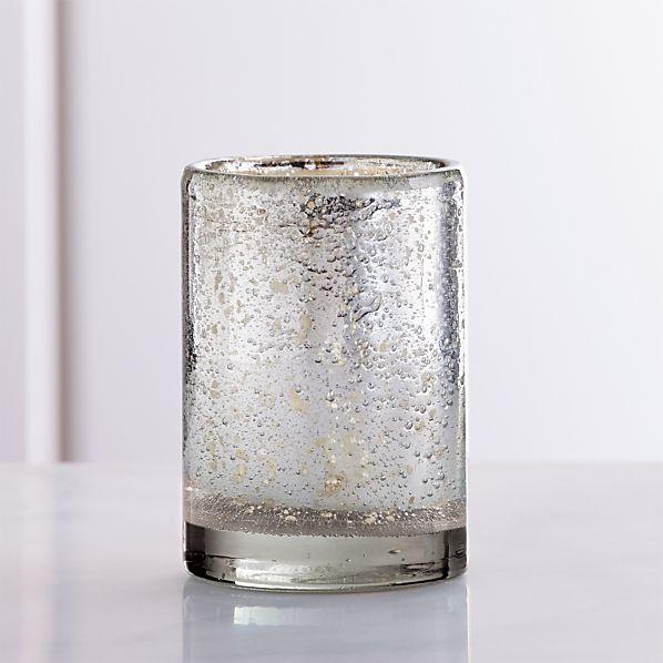 SilverBubbledGlassVotiveSHF16