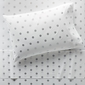 Organic Silver Dot Sheet Set
