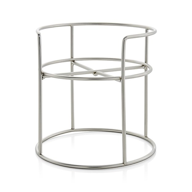 Nickel-Plated Drink Dispenser Stand in Specialty Serveware