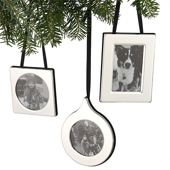 Set of 3 Silver Frame Ornaments