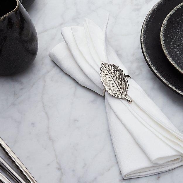 Silver Leaf Napkin Ring