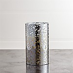 Silver Mercury 3.5x6 Flameless Pillar Candle