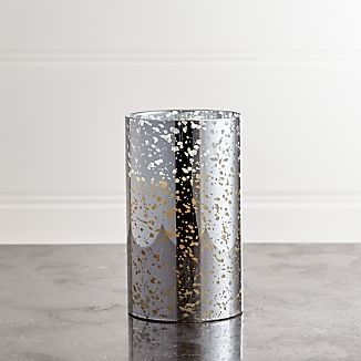 "Silver Mercury 3.5""x6"" Pillar with Motion Flameless Candle"