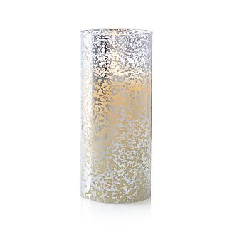 "Silver Mercury 3.5""x8"" Pillar with Motion Flameless Candle"