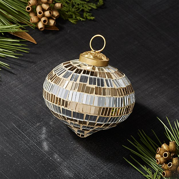Silver and Gold Mirrored Onion Ornament