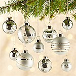 Silver Ornaments, Set of 10