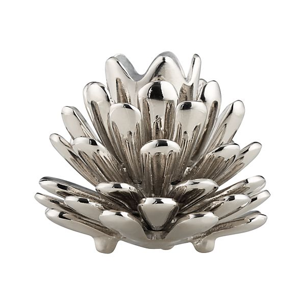 Silver Pinecone Candleholder