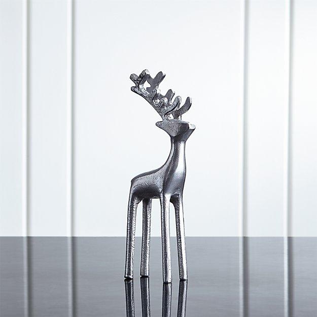 """9"""" Silver Reindeer - Image 1 of 12"""