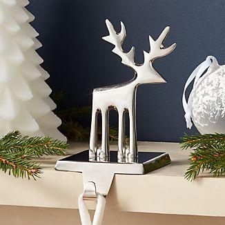 Silver Reindeer Stocking Hook