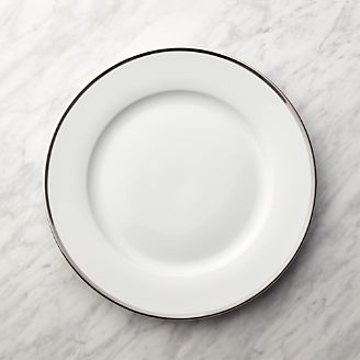 Silver Rim Buffet Plate