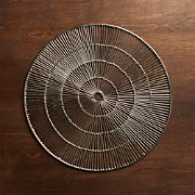 Round Silver Placemat