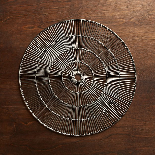 Round Silver Placemat - Image 1 of 3