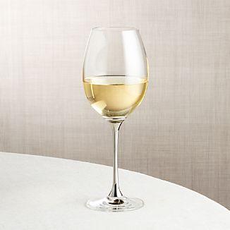 Silver Stem Wine Glass