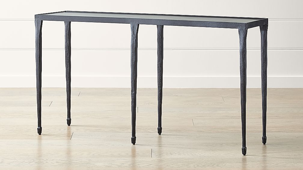 "Silviano 60"" Iron Console Table - Image 1 of 9"