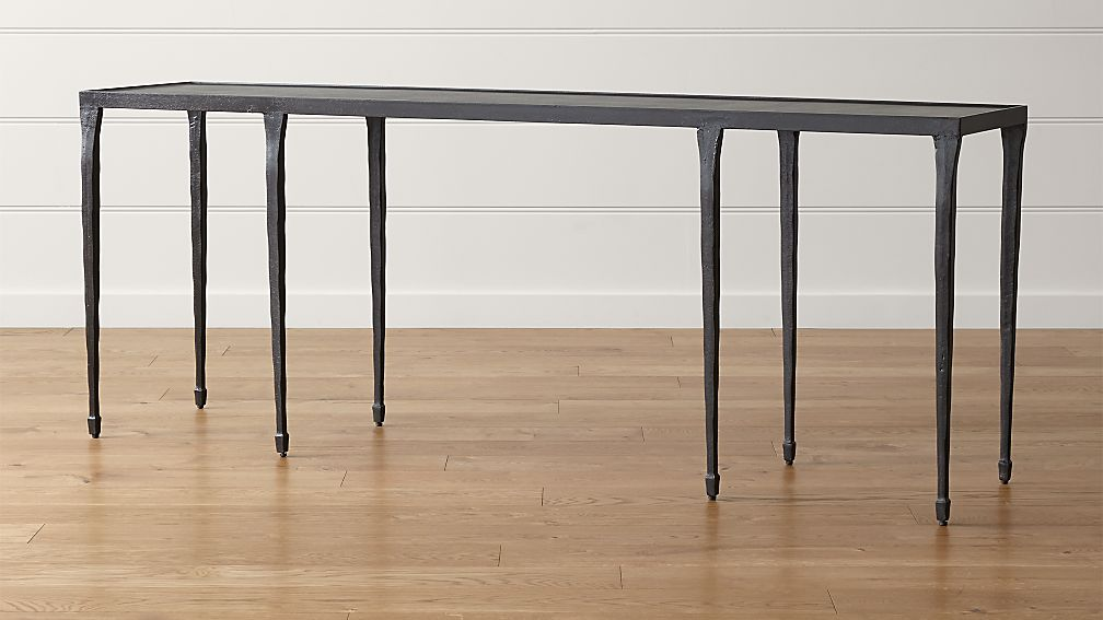 silviano long console table + reviews | crate and barrel Long Side Table