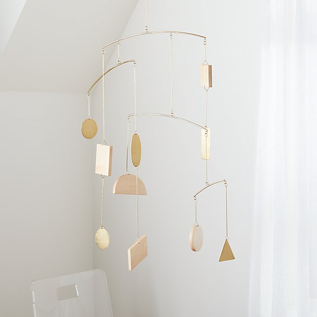 Simple Shapes Geometric Baby Mobile - Image 1 of 8