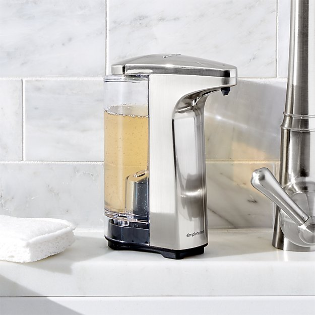 Simplehuman 174 Brushed Sensor Soap Dispenser Crate And Barrel