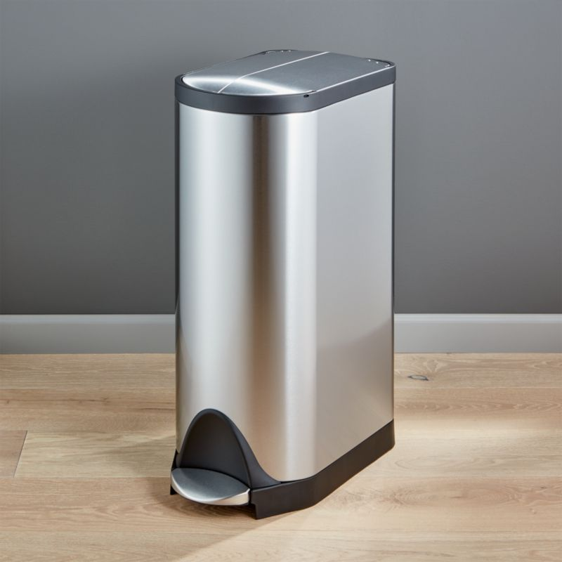 Simplehuman 30 Liter 8 Gallon Stainless Steel Butterfly