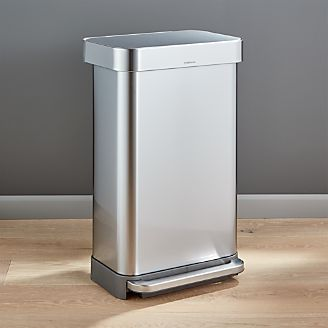 Bon Simplehuman ® 45 Liter/12 Gallon Stainless Steel Step Kitchen Trash Can