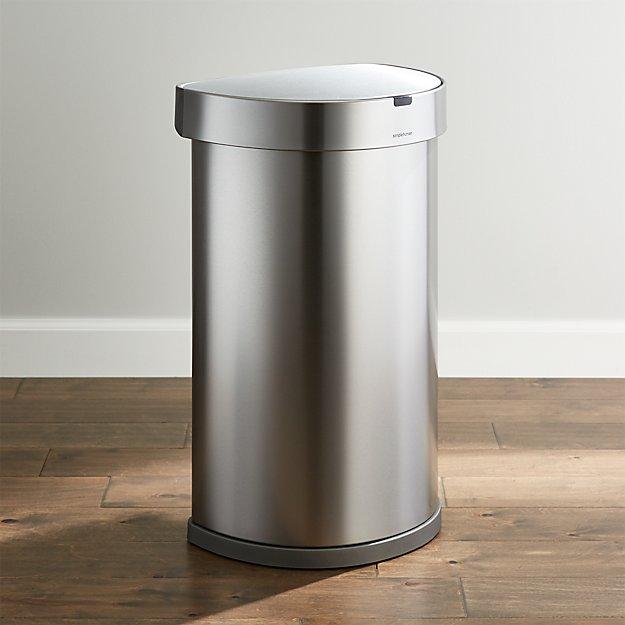 Touch Bin 45 Liter.Simplehuman 45 Liter 12 Gallon Sensor Trash Can Reviews Crate