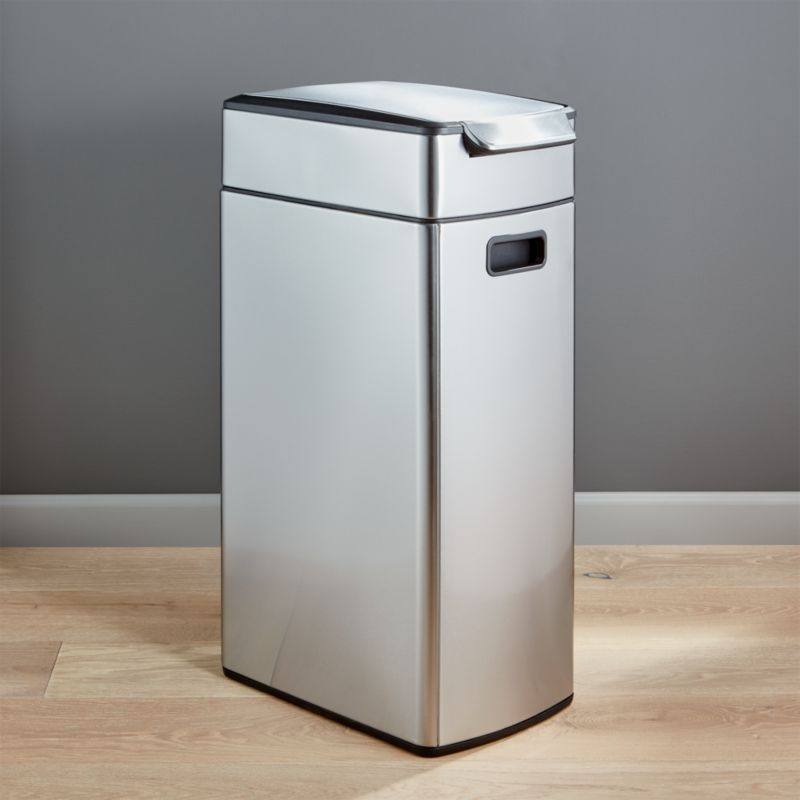 Delightful Simplehuman 40 Liter/10.5 Gallon Slim Touch Bar Trash Can + Reviews | Crate  And Barrel