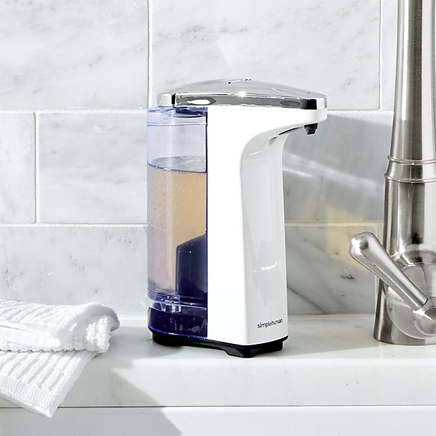how to open simplehuman soap dispenser