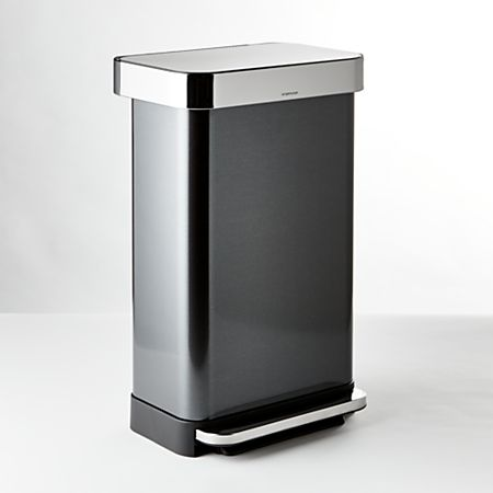 Simplehuman 45 Liter 12 Gallon Black