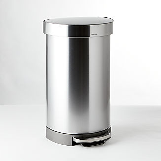 simplehuman ® 45-Liter/12-Gallon Semi-Round Trash Can