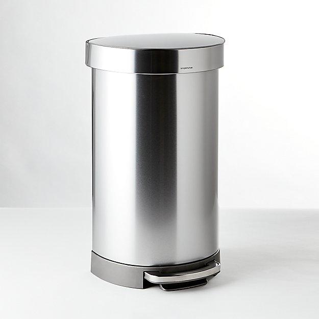 simplehuman ® 45-Liter/12-Gallon Semi-Round Trash Can - Image 1 of 3
