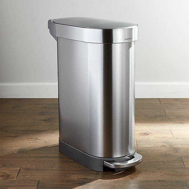 simplehuman 45-Liter Slim Trash Can - Image 1 of 4