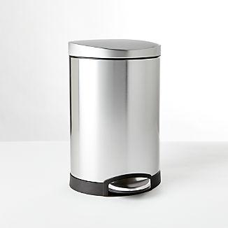 simplehuman ® 6-Liter/1.5-Gallon Semi-Round Trash Can