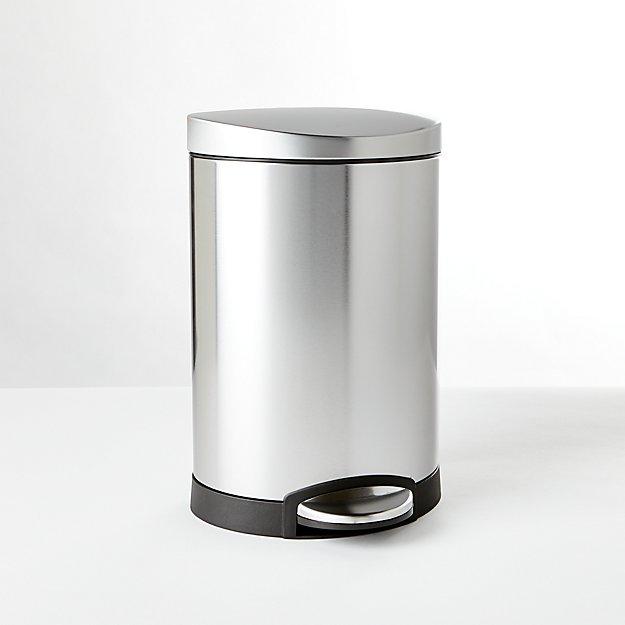 simplehuman ® 6-Liter/1.5-Gallon Semi-Round Trash Can - Image 1 of 3