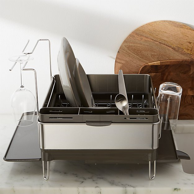 Simplehuman 174 Dish Rack Deluxe Crate And Barrel