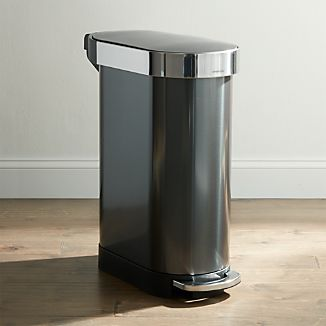 Simplehuman 45 Liter Black Slim Trash Can